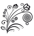Floral ornament Decorative branch vector image vector image