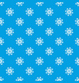 flower pattern seamless blue vector image