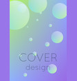 fluid poster with round shapes vector image vector image
