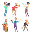 funny creative characters isolate on white vector image vector image
