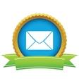 Gold letter logo vector image