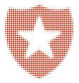 guard halftone icon vector image