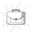 hand draw business briefcase vector image vector image