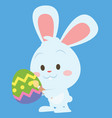 happy easter theme with bunny vector image vector image