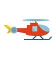 helicopter vehicle flying isolated icon vector image vector image