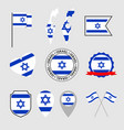 israel flag icons set national flag state of vector image vector image