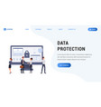 landing page data protection vector image vector image
