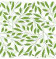 Leaf pattern green vector image vector image