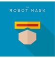 Mask robot Hero superhero flat style icon vector image vector image