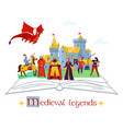 medieval legends concept composition vector image vector image