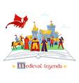 medieval legends concept composition vector image