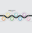 navigation map infographic 7 steps timeline vector image vector image