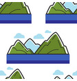 norway mountains and sea or ocean landscape vector image vector image