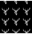 Pattern deer head icon Repeated seamless hand vector image