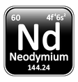 Periodic table element neodymium icon