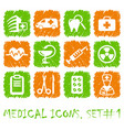 pharma and healthcare icons vector image