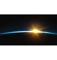 Planet earth sunrise Globe horizon atmosphere vector image vector image