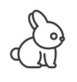 rabbit outline icon vector image vector image