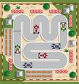 racing karts vector image