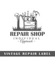 repair label vector image