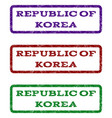 republic of korea watermark stamp vector image