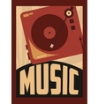 retro music poster design vector image