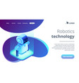 robotics technology isometric3d landing page vector image vector image
