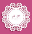 round lace doily with cutout border pattern vector image vector image
