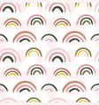 scandinavian pattern creative barainbow print vector image vector image