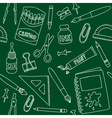 school or office supplies - seamless pattern vector image