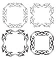 scroll frames vector image vector image