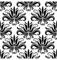 seamless damask pattern with stylized yucca vector image