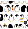 seamless pattern of penguins vector image vector image