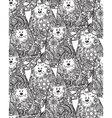 Seamless pattern with hand drawn doodle graphic vector image