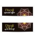 Set of Diwali big sale banners Indian festival of vector image