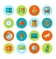Set of school and education icons vector image vector image