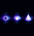 set sacred geometry vector image vector image