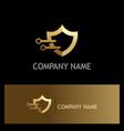 shield technology gold logo