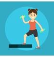 Smiling fitness girl doing exercise vector image