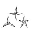 star shapes engraving vector image