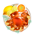 Steamed Crab with Lemon and Butter Sauce vector image