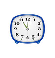 table clock in on white background vector image