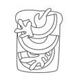 toast with avocado iconline icon
