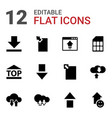 upload icons vector image vector image