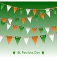 Patrick day card with flag garland vector image