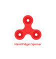 simple red hand fidget spinner logo vector image
