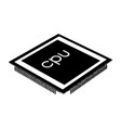 black processor on a white background vector image