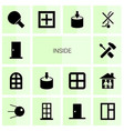 14 inside icons vector image vector image