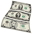 3 detailed Stylized drawings of Bills vector image vector image