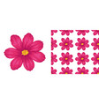 a seamless pattern flowers on white vector image vector image